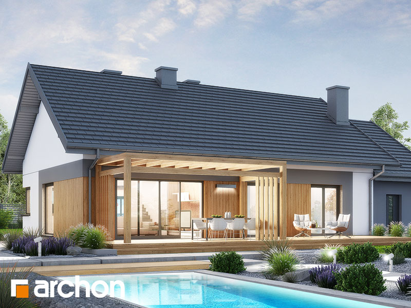 gotowy projekt Dom w kostrzewach 2 (G) widok 2
