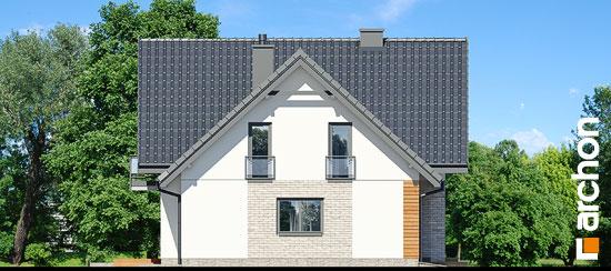 Elewacja boczna projekt dom w orliczkach g2p  265