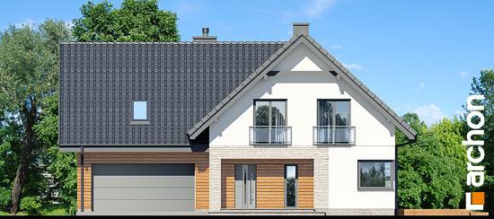 Elewacja frontowa projekt dom w orliczkach g2p  264