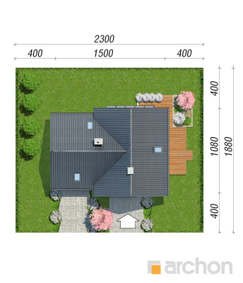 projekt Dom w orliczkach (G2P) sytuacja