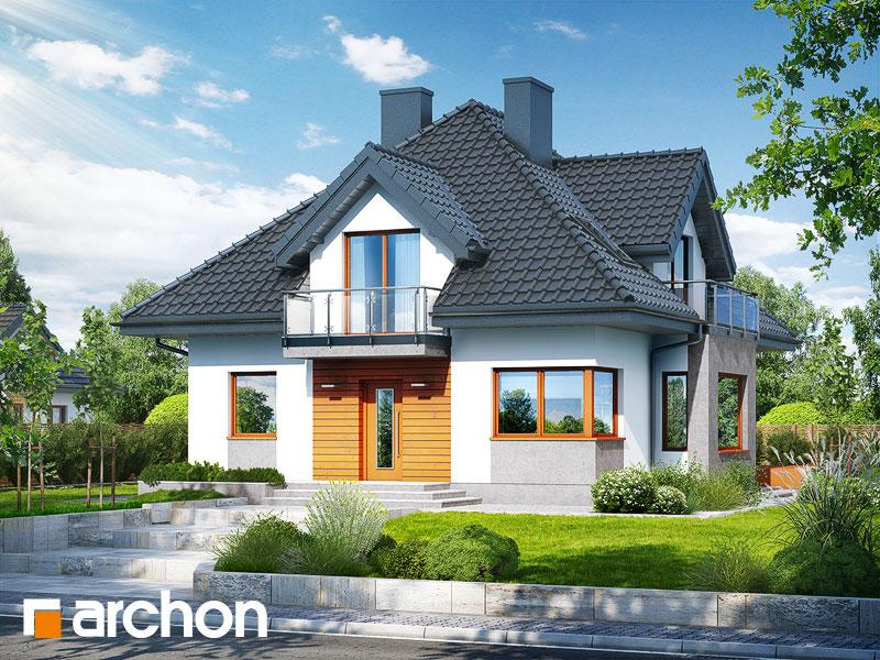 gotowy projekt Dom w grujecznikach (P) widok 1