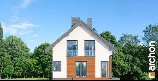 Elewacja boczna projekt dom w kroplikach  266