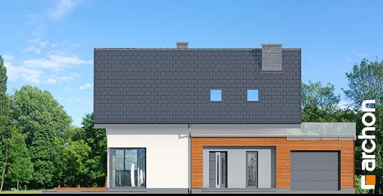 Elewacja frontowa projekt dom w kroplikach  264