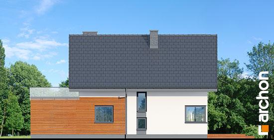 Elewacja ogrodowa projekt dom w kroplikach  267
