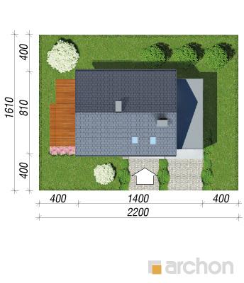 projekt Dom w kroplikach sytuacja