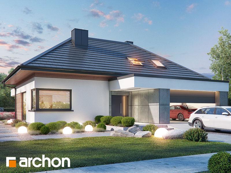 gotowy projekt Dom w przebiśniegach 11 (G2) widok 1