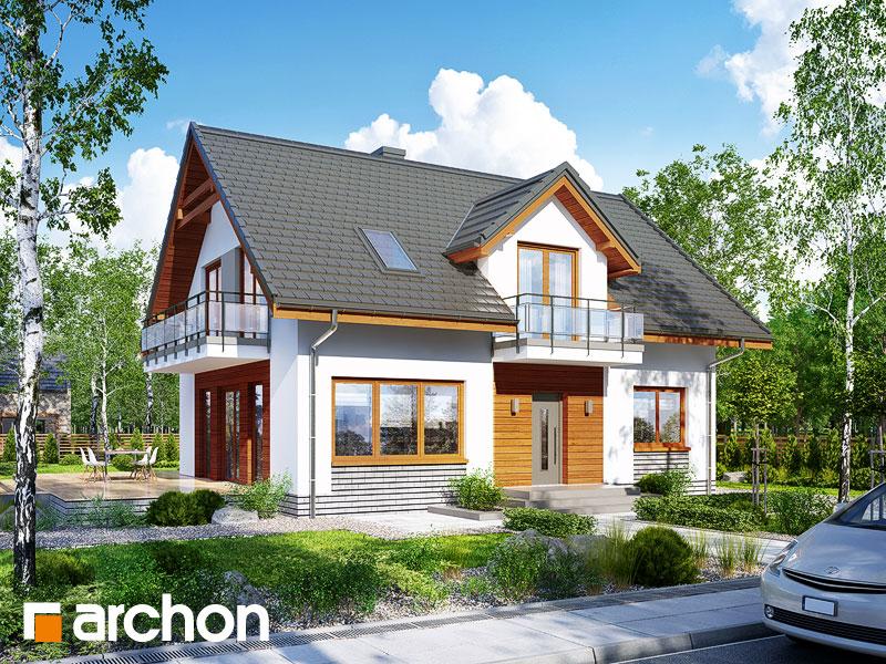 gotowy projekt Dom w rododendronach 16 (W) widok 1