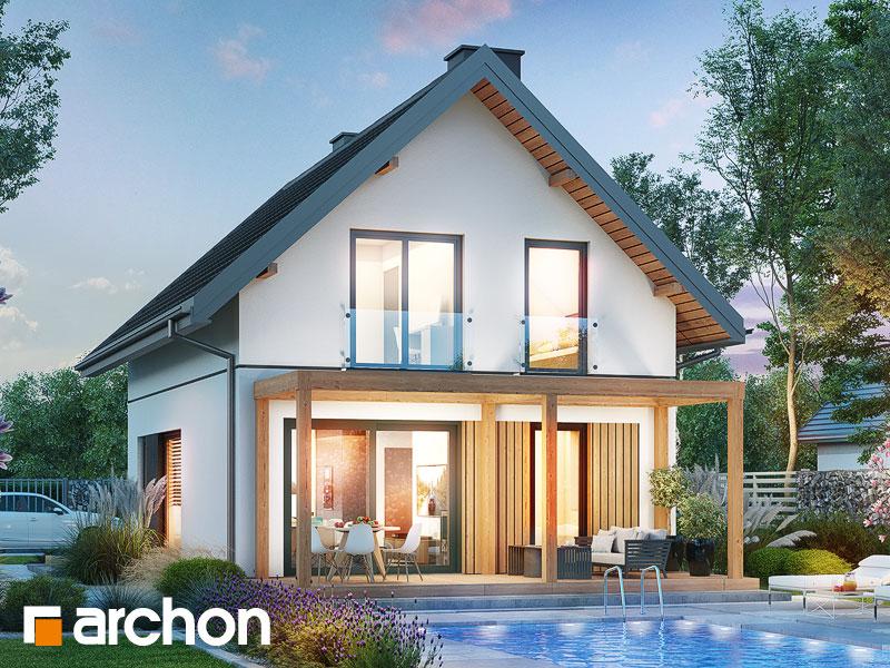gotowy projekt Dom w stokrotkach 4 widok 1