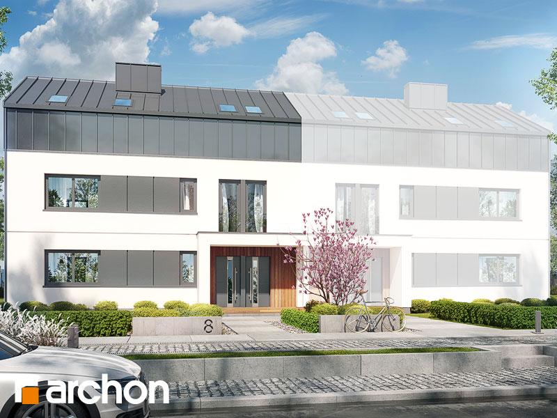 gotowy projekt Dom w halezjach 6 (R2B) widok 2