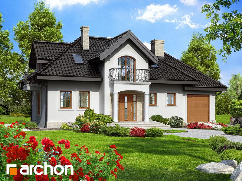 gotowy projekt Dom w lawendzie widok 1