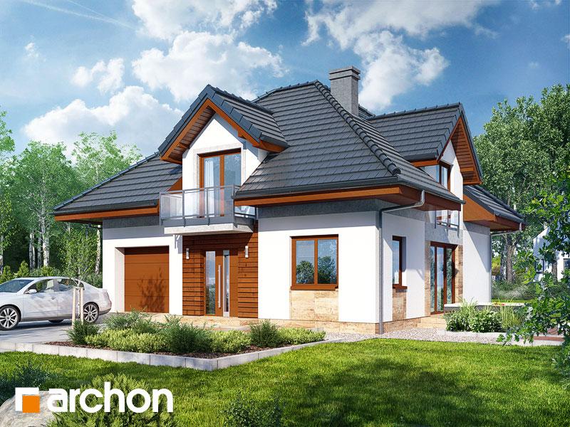 gotowy projekt Dom w wawrzynkach 2 widok 1
