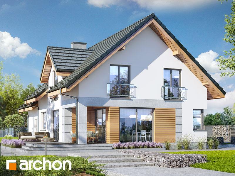 Widok 2 projekt dom w srebrzykach 2 g2  290