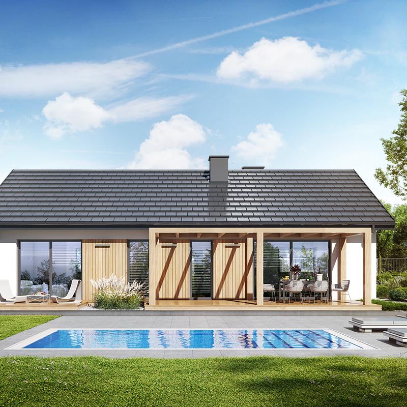 gotowy projekt Dom w kruszczykach 5 widok 1