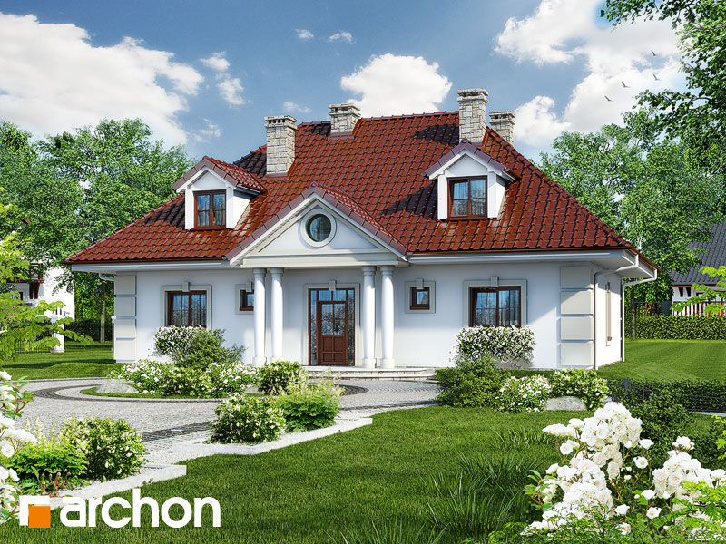 gotowy projekt Dom w astrach widok 1