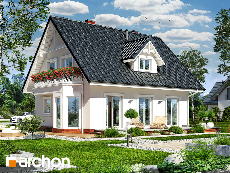 projekt Dom w zawilcach widok 1