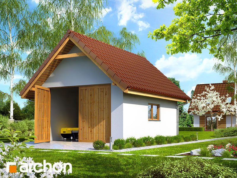 projekt G10 Budynek gospodarczy widok 1