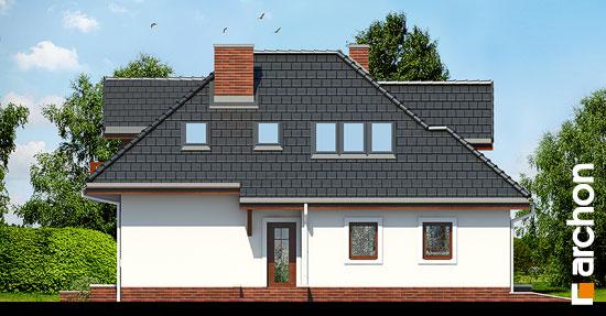 Elewacja boczna projekt dom w chabrach  266