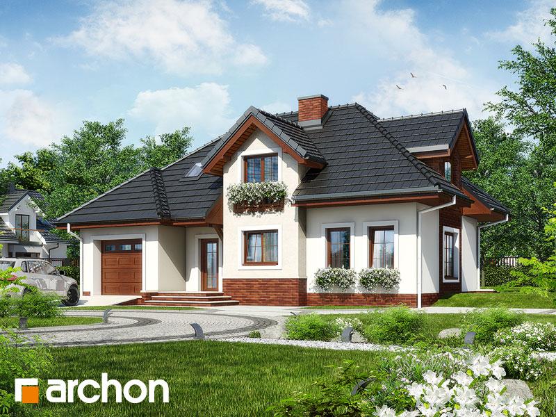 gotowy projekt Dom w chabrach widok 2