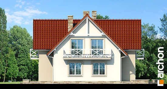 Elewacja boczna projekt dom w fiolkach  265