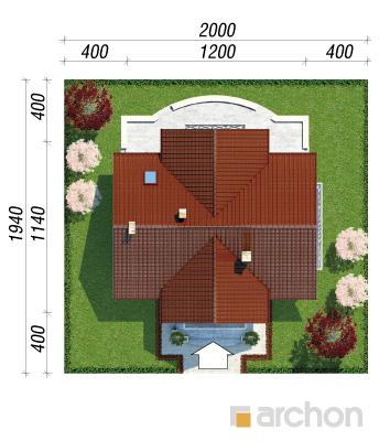 projekt Dom w fiołkach sytuacja