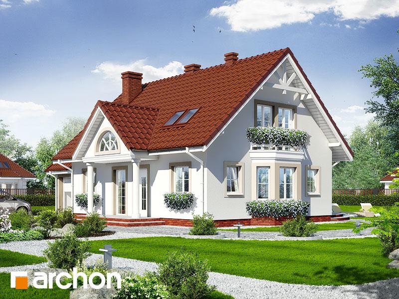 gotowy projekt Dom w magnoliach 2 widok 1