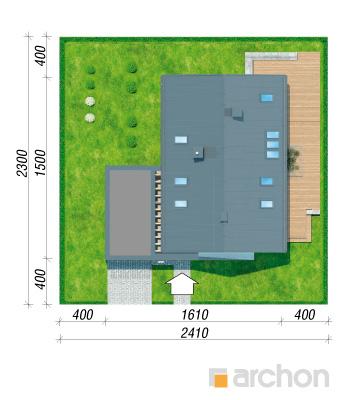 projekt Dom w marantach (G) sytuacja
