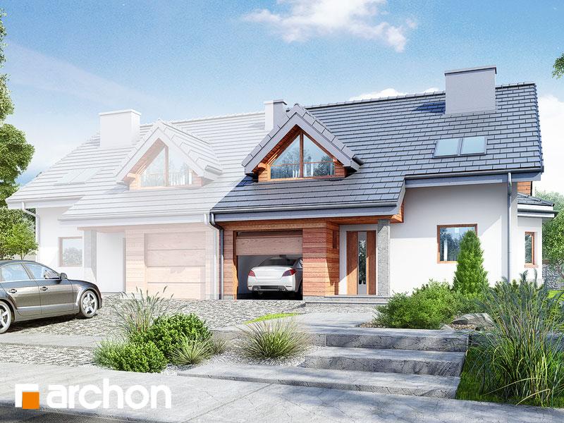 gotowy projekt Dom w klematisach 4 widok 1