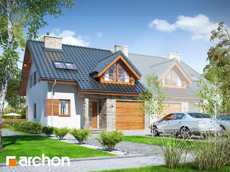 gotowy projekt Dom w klematisach 10 (AB) widok 1