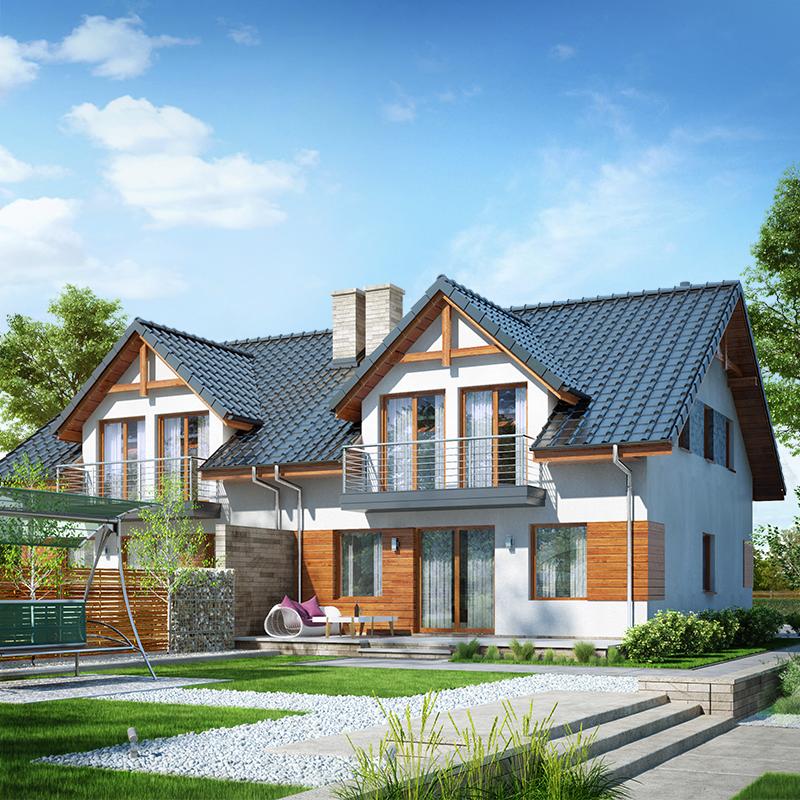 gotowy projekt Dom w klematisach 10 (AB) widok 2