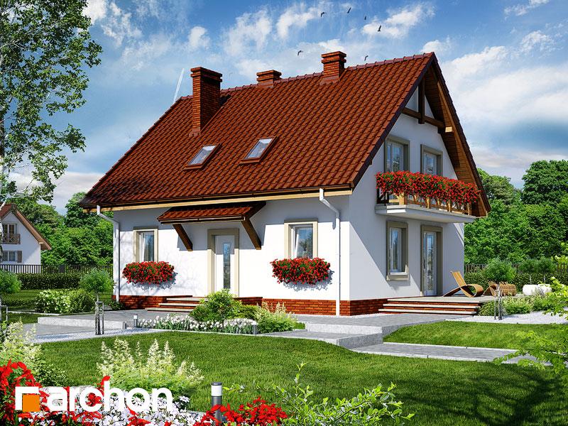 projekt Dom w paprociach widok 1