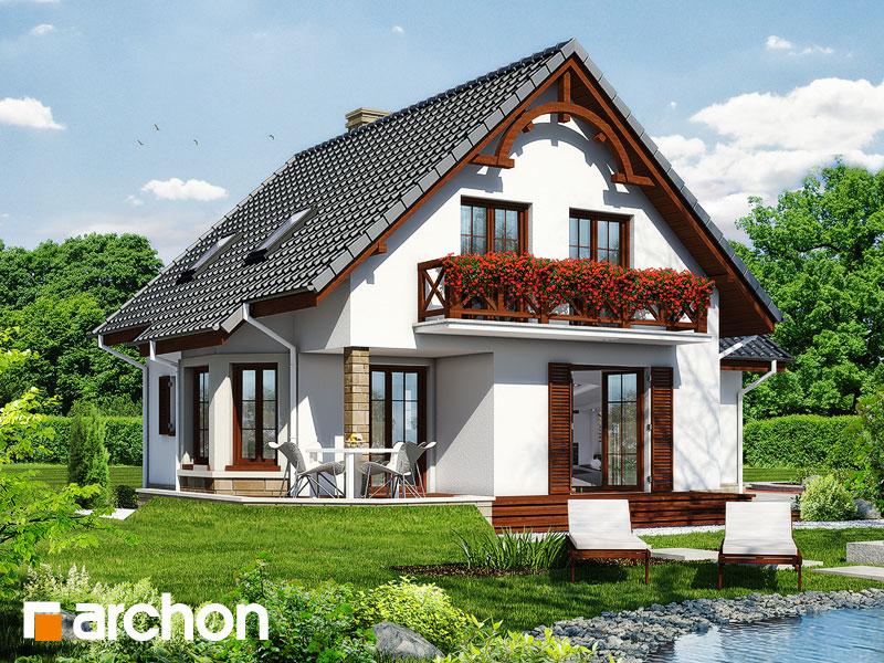 gotowy projekt Dom w tamaryszkach widok 1