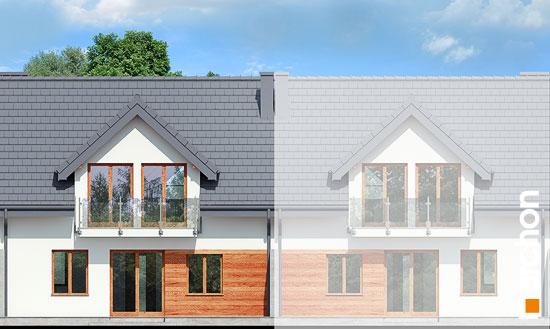 Elewacja ogrodowa projekt dom w klematisach 3  267
