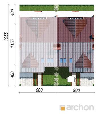 projekt Dom w klematisach 3 sytuacja