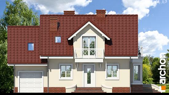 Elewacja frontowa projekt dom w perlowce ver 2  264