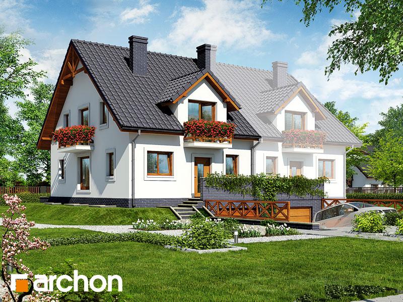 gotowy projekt Dom pod cisami 2 widok 1