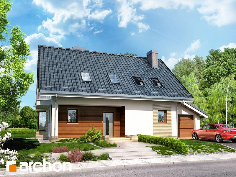 gotowy projekt Dom w dziewannie 2 widok 1