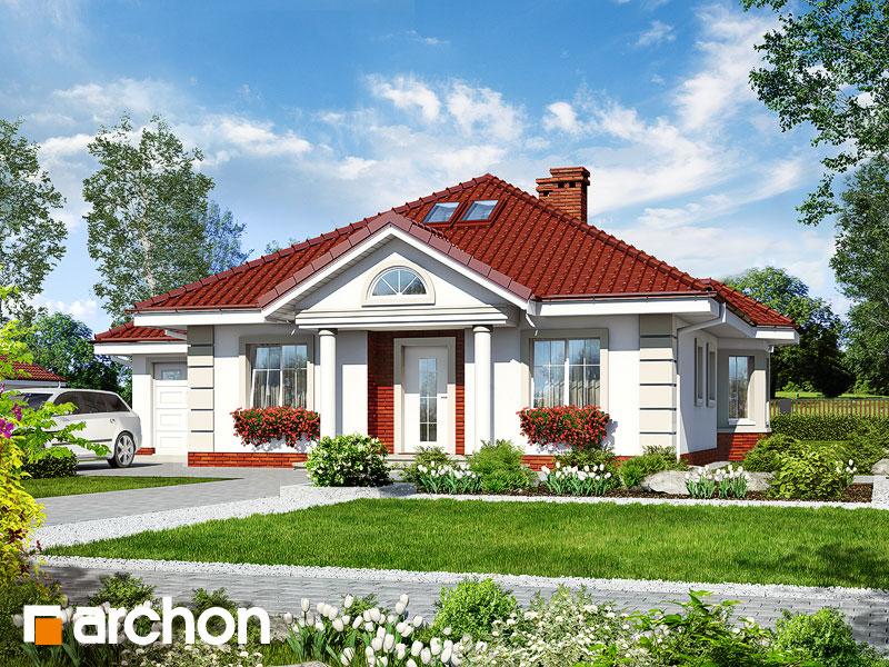 gotowy projekt Dom nad stawem 2 widok 1