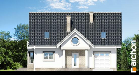 Elewacja frontowa projekt dom w szafirkach  264