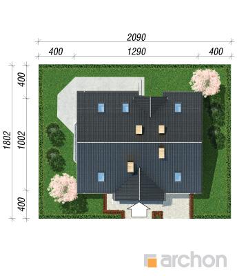 projekt Dom w szafirkach sytuacja