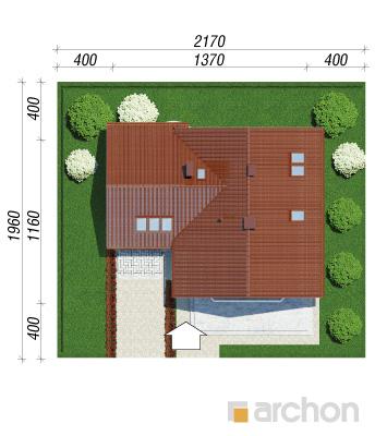 projekt Dom na polanie 2 sytuacja