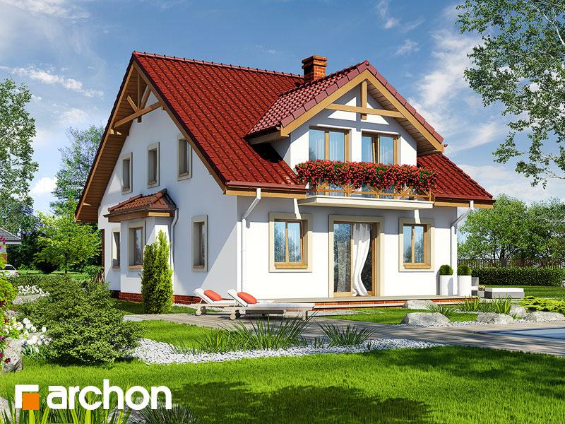 gotowy projekt Dom w dmuchawcach widok 1