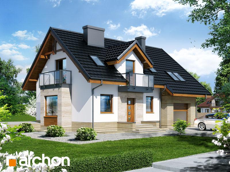 gotowy projekt Dom w rododendronach 15 (PN) widok 1