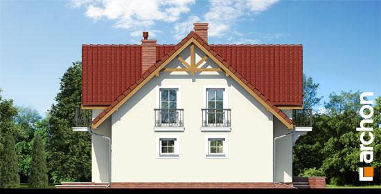 Elewacja boczna projekt dom w fiolkach 3  266