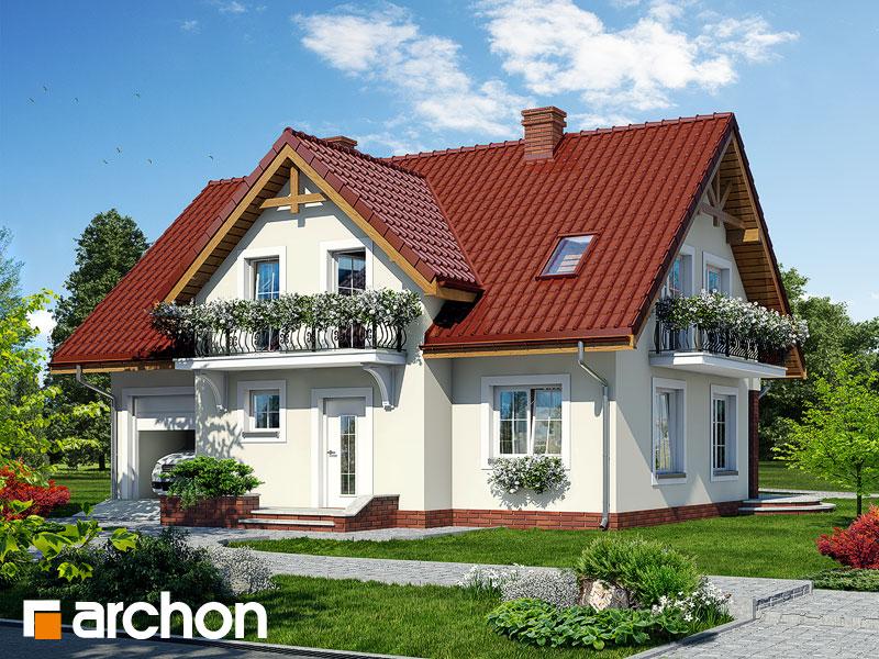 gotowy projekt Dom w fiołkach 3 widok 1