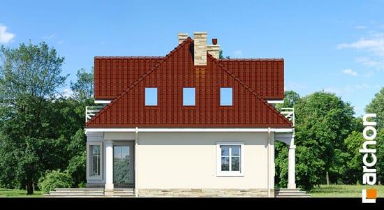 Elewacja boczna projekt dom w szkarlatkach  265