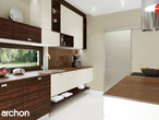 projekt Dom w daktylowcach (G2) Aranżacja kuchni 1 widok 2