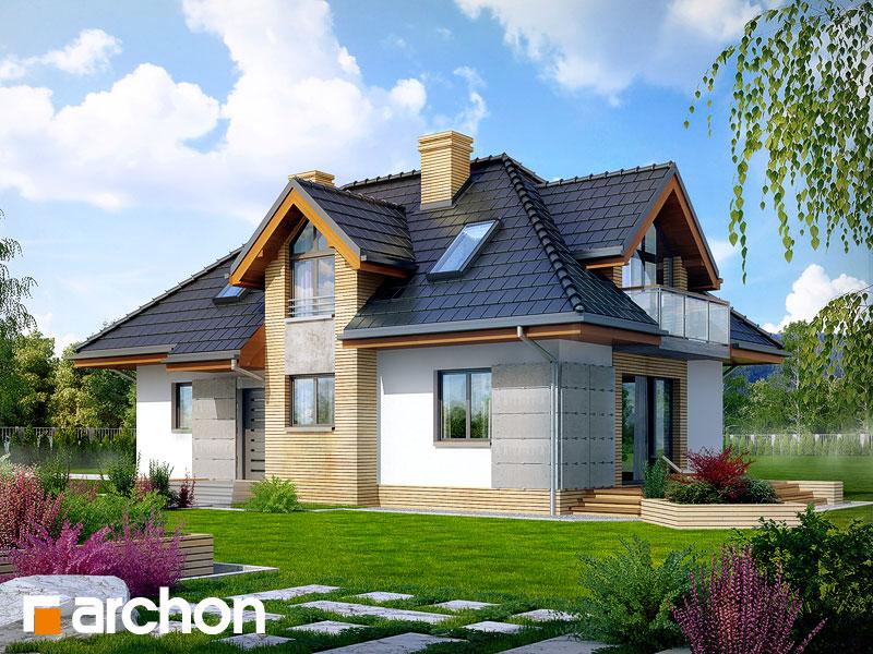 gotowy projekt Dom w mniszkach widok 1