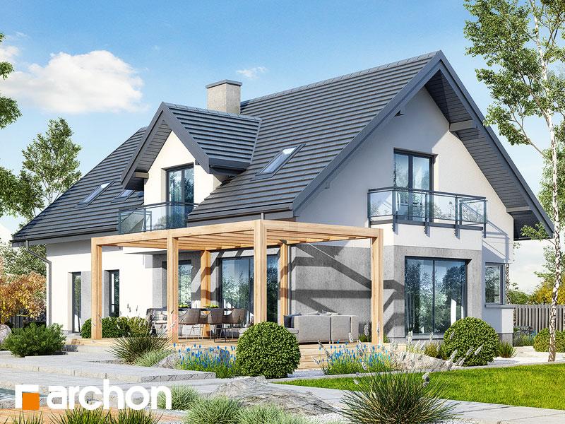 gotowy projekt Dom w rododendronach 15 (G2N) widok 1