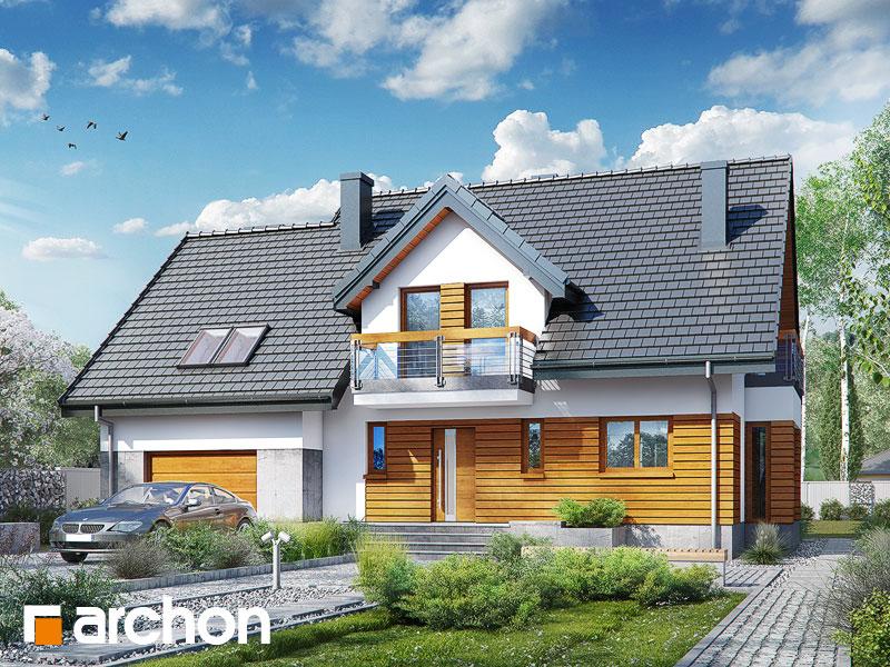 gotowy projekt Dom w tamaryszkach 10 (N) widok 1