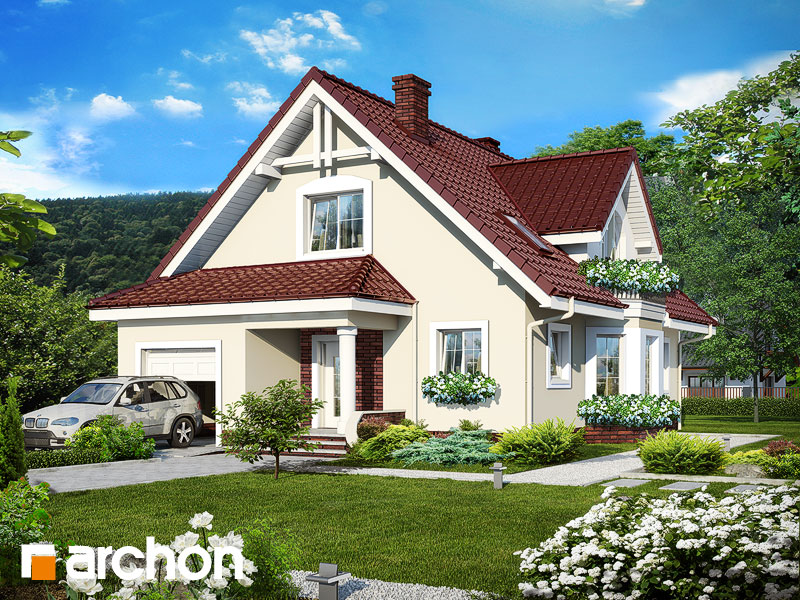 gotowy projekt Dom w anyżku widok 1